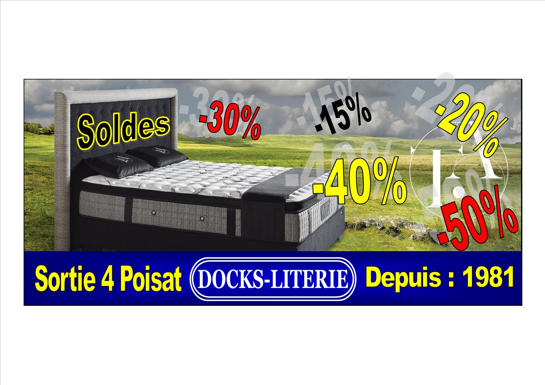 docks de la literie literies sommiers matelas saint. Black Bedroom Furniture Sets. Home Design Ideas